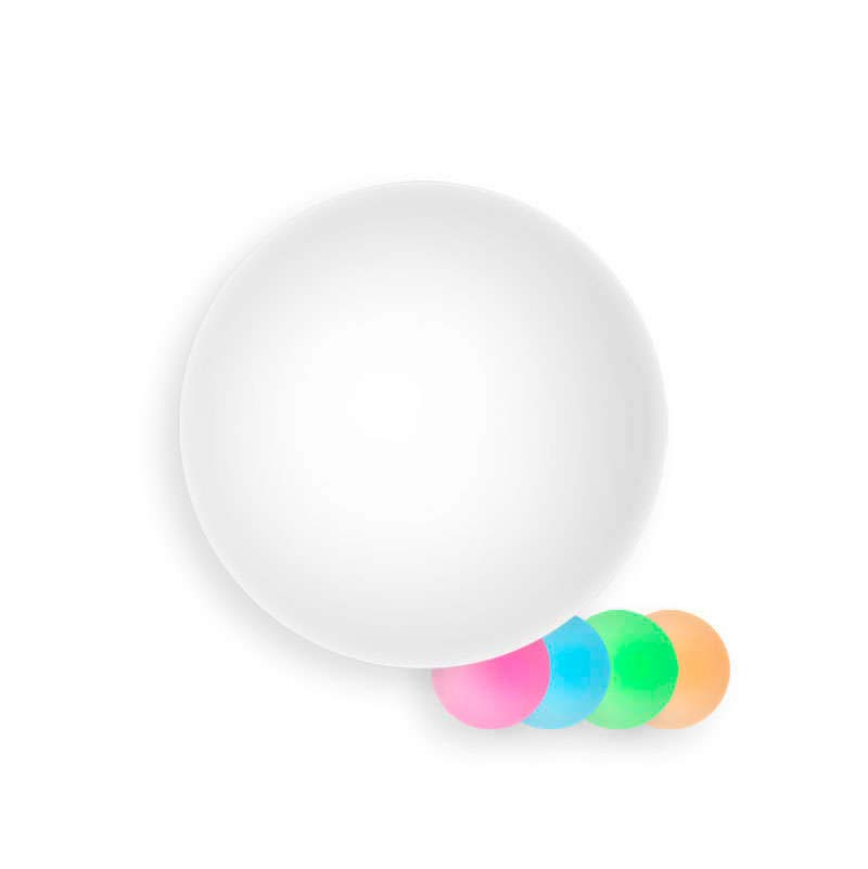 Esfera luminosa led 30cm RGBW recargable, RGB + Blanco frió